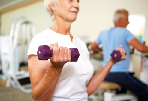 Lifting light weights helps with cervical degenerative joint disease